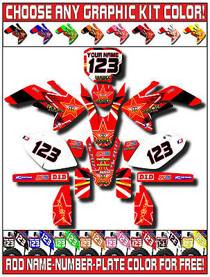 Cr250 number plate graphics