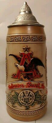 $ CDN21.77 • Buy Budweiser Vintage Anheuser Busch Lidded Beer Stein Limited Edition N Series 1989