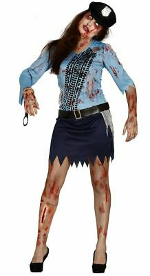 £11.69 • Buy Womens Zombie Police Costume Undead Cop Halloween Fancy Dress Ladies Outfit