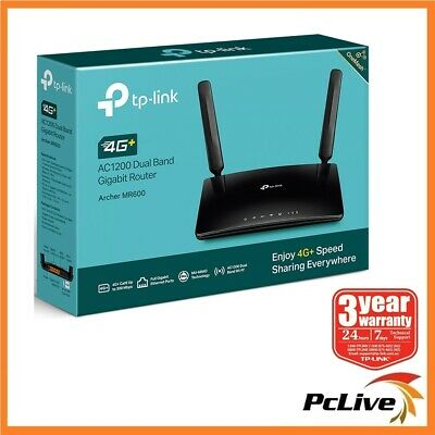 AU244.60 • Buy TP-Link Archer MR600 AC1200 Wireless Dual Band 4G+ Cat6 LTE Router Mesh SIM Card