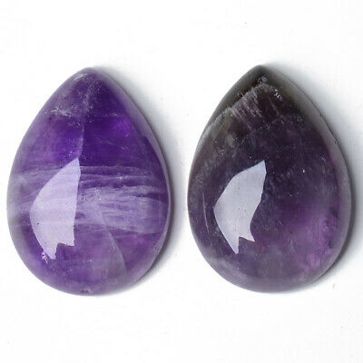 Amethyst Cabochon Purple Drop Calibrated 18 X 25mm Pack Of 1 • 3.09£