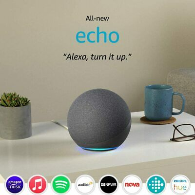 AU299.99 • Buy Amazon Echo Plus Gen 2 Smart Assistant Speaker Alexa Built In Home Hub Charcoal
