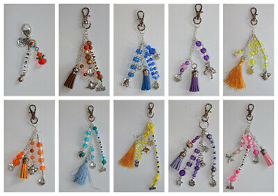 Personalised Keyring Bag Charm Gifts Happy Birthday Friend Family Free Post • 3£
