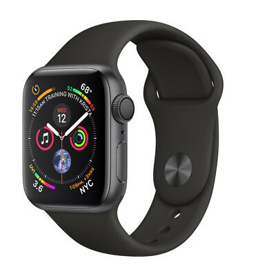 $ CDN408.96 • Buy Apple Watch Series 4 44mm Space Gray Aluminum Case With Black Sport Band (GPS)