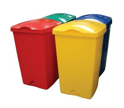Addis 50 Litre Bin With Lift Lid Rubbish Waste Colour Code Kitchen Food Recycle  • 27.50£