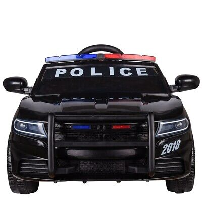 Kids Electric Ride On 12v Police Car With Parental Remote Control Flashing Siren • 119.99£