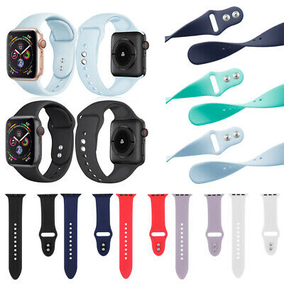 $ CDN4.43 • Buy Sport Bracelet Silicone Strap Watch Band For Apple Watch Series 4 3 2 1 IWatch