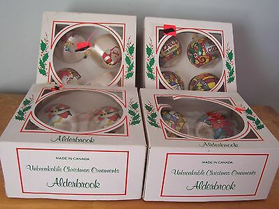 $ CDN15.99 • Buy Lot Of 16 Vintage Unbreakable Alderbrook Christmas Ornaments - Made In Canada