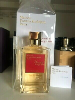 Maison Francis Kurkdjian Baccarat Rouge 540 EDP - 10mL Glass Sample • 20£