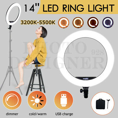 AU66.84 • Buy 14  5500K Dimmable Diva LED Ring Light Diffuser Phone Stand Make Up Circle Lamp