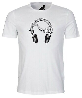 Sheet Music Headphones MENS T SHIRT Festival Party Band DJ Gym Exercise Cool • 7.99£