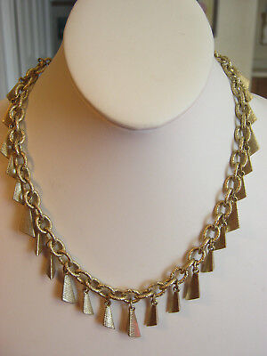 $ CDN19 • Buy LIA SOPHIA Goldtone Chain Link Necklace, Dangling Gold Pyramid Like Pieces, NWOT