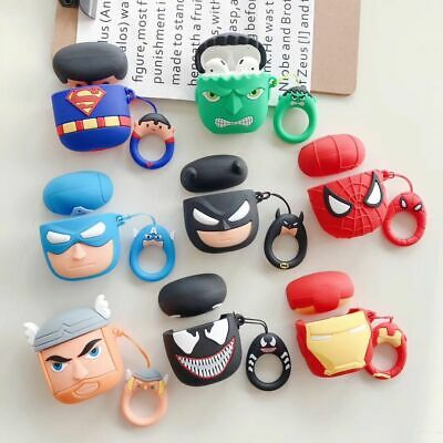 $ CDN8.03 • Buy Superman Batman Earphone Cover For Apple Airpods Charging Case Holder Bag Skin