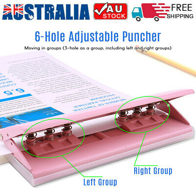 AU28.49 • Buy Adjustable 6-Hole Desktop Punch Puncher For A4 A5 A6 B7 Dairy Planner Organizer