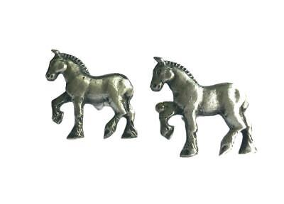 Shire Horse Cufflinks. Fine English Pewter. Gift Boxed. Cart Horse • 10.99£