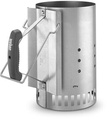 $ CDN34.20 • Buy Weber Charcoal Starter Lighter Can Fire Grill Bin Grate Handle Steel Chimney