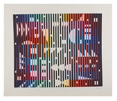 $1799.99 • Buy  Night Rainbow  By Yaacov Agam Serigraph On Paper Artist's Proof 22.5  X 22