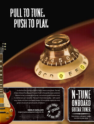 AU40 • Buy  N-Tune On Board Chromatic Electric Guitar Tuner Les Paul BRAND NEW STOCK