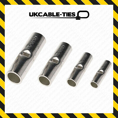 Copper Tube Butt Terminals Connector Battery Welding Cable Crimp Wire • 5.19£