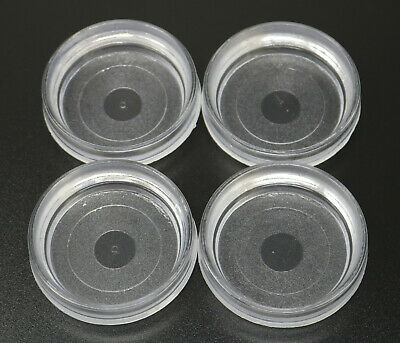 4 X Large Floor Cups Castor Furniture Chair Sofa Carpet Protectors Caster Clear • 3.99£