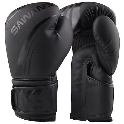 $ CDN27.43 • Buy SAWANS® Leather Boxing Gloves Professional MMA Sparring Punch Bag Training Fight