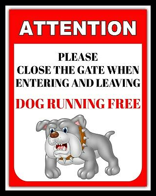 £4.99 • Buy Please Close The Gate Dog Running Free Loose Outside Metal Plaque Tin Sign  975