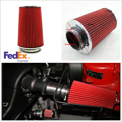 Short Ram Cold Air Intake Filter Round//Cone Universal Round RED For Cadillac 2
