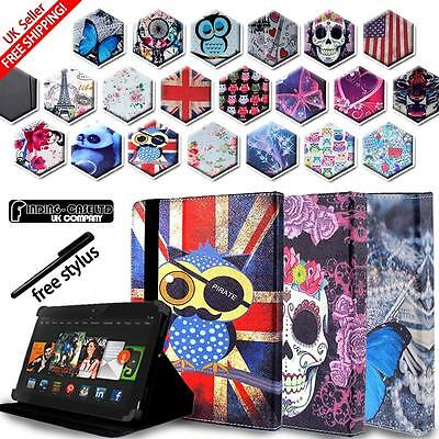LEATHER STAND CASE COVER For Amazon Kindle Fire 7  (9th Generation) 2019 Tablets • 4.99£