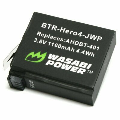 $ CDN10.92 • Buy Wasabi Power Battery For GoPro HERO4 And GoPro AHDBT-401