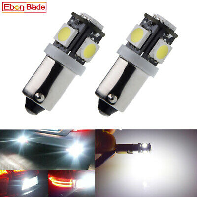 AU5.69 • Buy 2Pcs BAX9S H6W 5 LED Light 5050 SMD T4W Bayonet Interior Globe 6000K White 12V