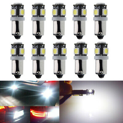 AU19.89 • Buy 10X H6W BAX9S 5 LED 260LM Indicator Side Light Bulb DRL Interior Bulbs 12V White