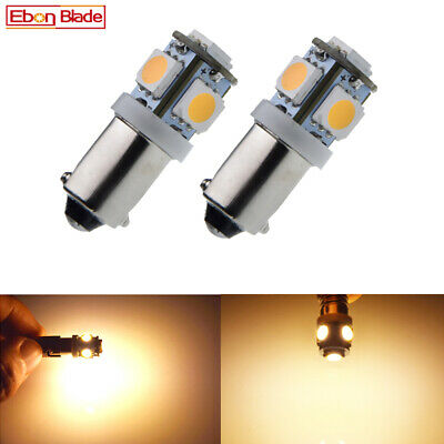 AU5.59 • Buy 2 X H6W BAX9S 5SMD LED Warm White 12V Car Indicator Side Parker Light Bulb Globe