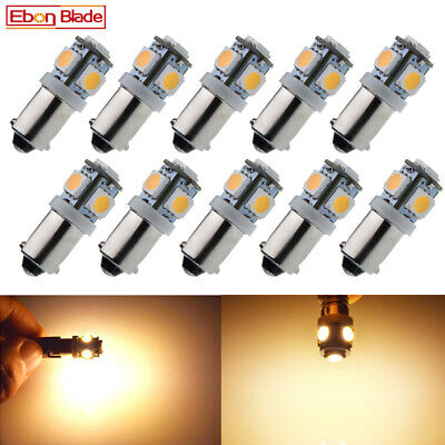 AU19.89 • Buy 10Pcs Car LED Light BAX9S H6W Warm White Interior Dome Map Reading Bulb Lamp 12V