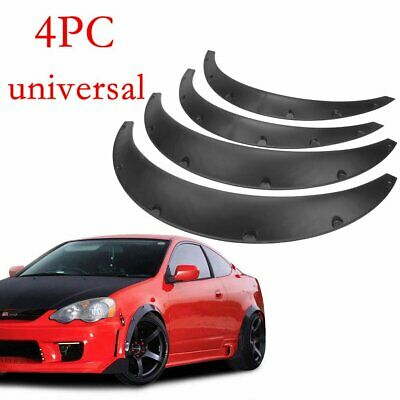 $28.24 • Buy 4 Pcs Black Universal Exterior Fender Flares Flexible Car Body Kit Wheel Arches