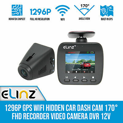 AU115 • Buy Car Dash Cam 1296P GPS WiFi Hidden  170° FHD Recorder Video Camera DVR 1080P