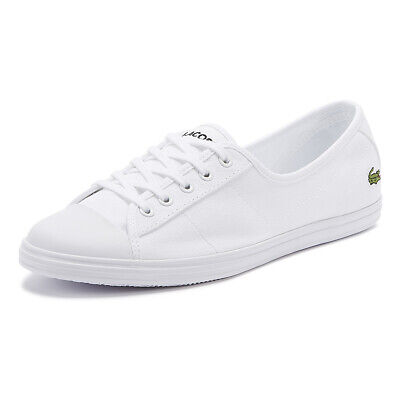 Lacoste Ziane BL 2 Womens White Trainers Ladies Sport Casual Shoes • 60£