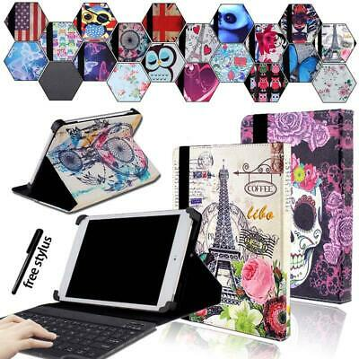 For Various 7  8  10  Tab Universal Leather Stand Cover Case +Bluetooth Keyboard • 12.48£