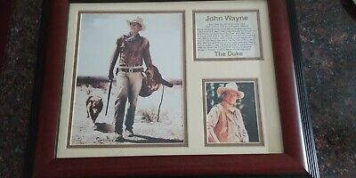 $30 • Buy John Wayne The Duke With Dog Framed Collectible Photo Collage