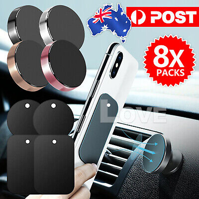 AU5.95 • Buy Metal Plate Magnetic Car Phone Holder Accessories Magnet Phone Stand Support