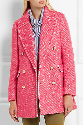 AU296.99 • Buy NWT £350 Designer J Crew COLLECTION Italian Wool Coco Double-breasted Tweed Coat