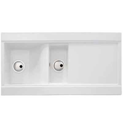 £149.99 • Buy Abode AW1004 1.5 Bowl Fireclay Ceramic Sink In White FA9360