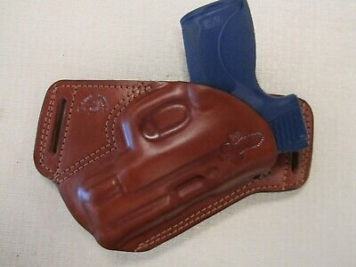 $49.65 • Buy S&w M&p Shield 3.3 45 Cal. Formed Brown Leather,sob, Owb Holster, Right Hand