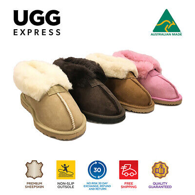 AU70 • Buy UGG Australian Made  Premium Sheepskin Wool Collar Slipper,Warm And Cosy.
