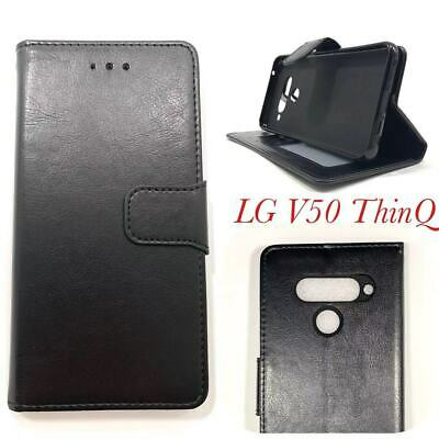AU14.95 • Buy Mooncase Stand PU Leather TPU In Wallet Case Cover For LG V50 ThinQ Black