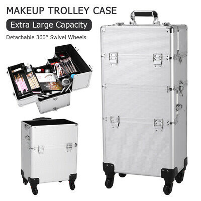 $77.16 • Buy 3 In 1 Professional Rolling Makeup Train Case, Cosmetic Trolley Case Organizer
