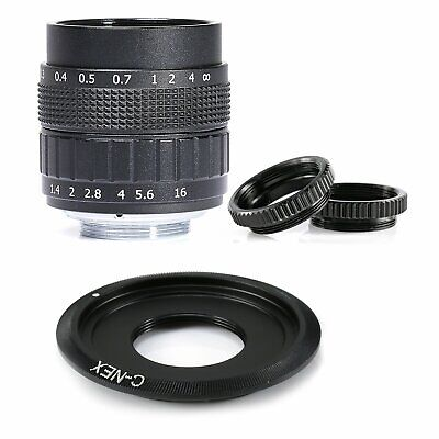 AU78.66 • Buy Fujian 50MM F/1.4 CCTV Lens For Sony NEX E Mount Camera A5000 A6000 A6300 A5100