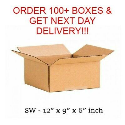 Cardboard Postage Postal Packaging Box Royal Mail Post Small Parcel 12 X 9 X 6  • 6.95£