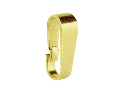 £8.14 • Buy 9ct Yellow Gold Snap On Pendant Bail / Bale No Soldering Required Easy Use 375