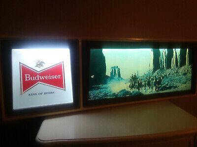 $ CDN290.40 • Buy Large Budweiser Tavern Lighted Sign With Western Grand Canyon Scene