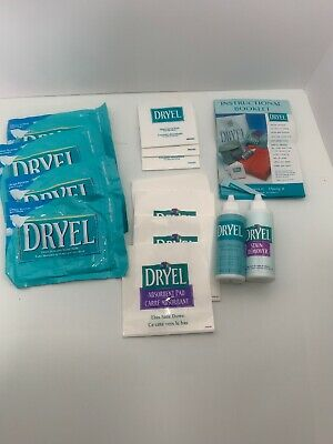 Dryel Stain Remover Lot 7 Absorbent Pads 2 Bottles Cleaner Dry Cleaning At Home • 21.20£